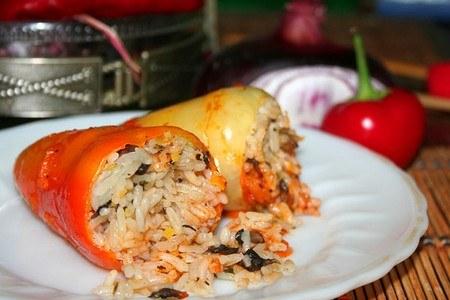 Перцы фаршированные рисом