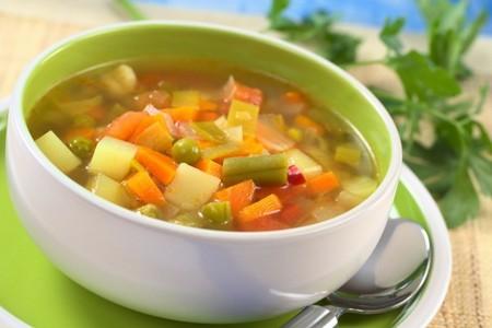Тарелка супа с овощами